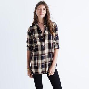 Madewell Plaid Flannel Shirt
